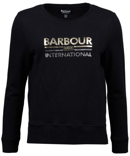 Women's Barbour International Dual Sweatshirt - Black