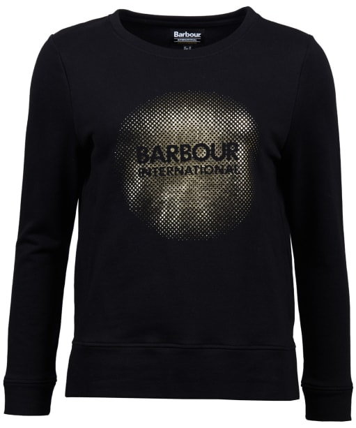 Women's Barbour International Ronda Sweatshirt - Black