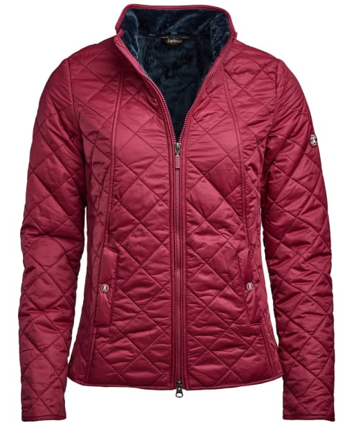 Women's Barbour Backstay Quilted Jacket - Deep Pink