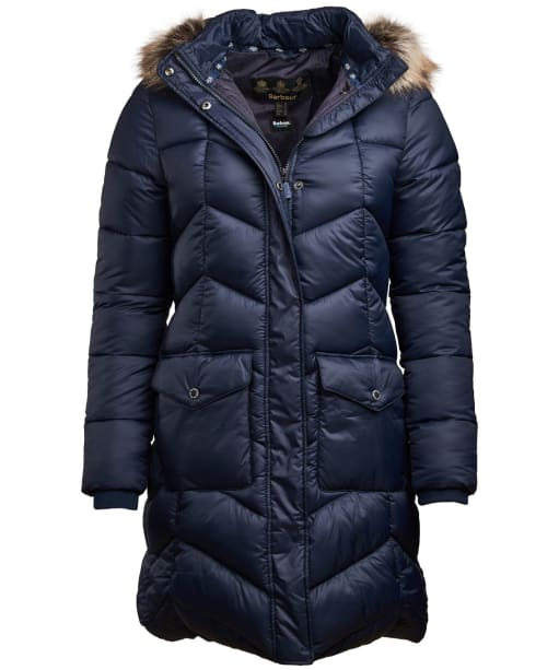 Women's Barbour Clam Quilted Jacket - Navy