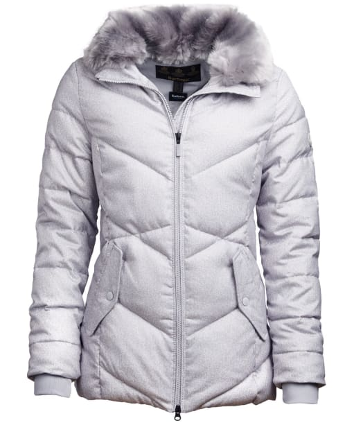 Women's Barbour Scuttle Quilted Jacket - Ice White Marl