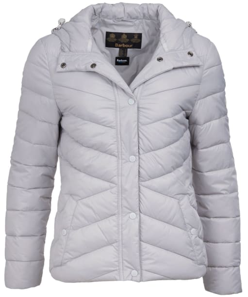 Women's Barbour Hawse Quilted Jacket - Ice White