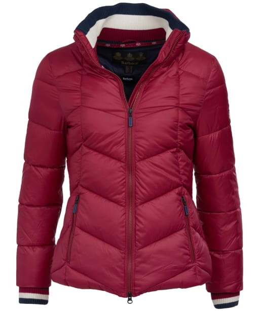 Women's Barbour Gangway Quilted Jacket - Deep Pink