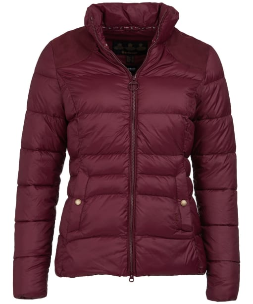 Women's Barbour Brecon Quilted Jacket - Bordeaux