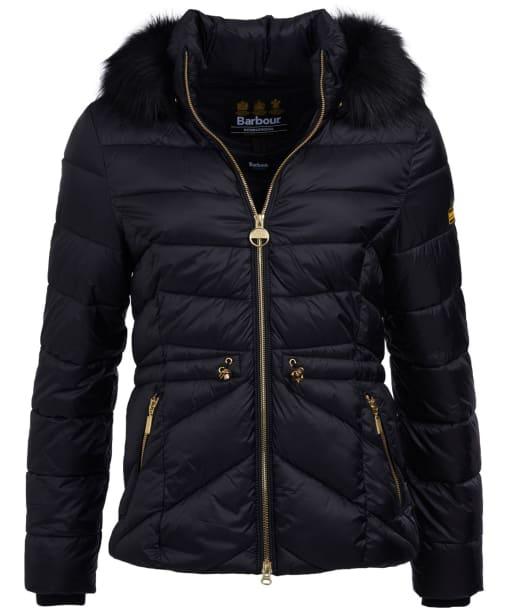 Women's Barbour International Island Quilted Jacket - Black