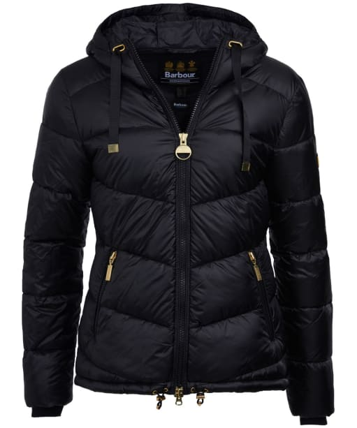 Women's Barbour International Brace Quilted Jacket - Black