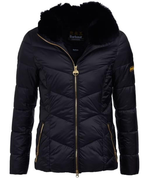 Women's Barbour International Nurburg Quilted Jacket - Black