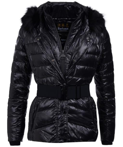 Women's Barbour International Marleigh Quilted Jacket - Black