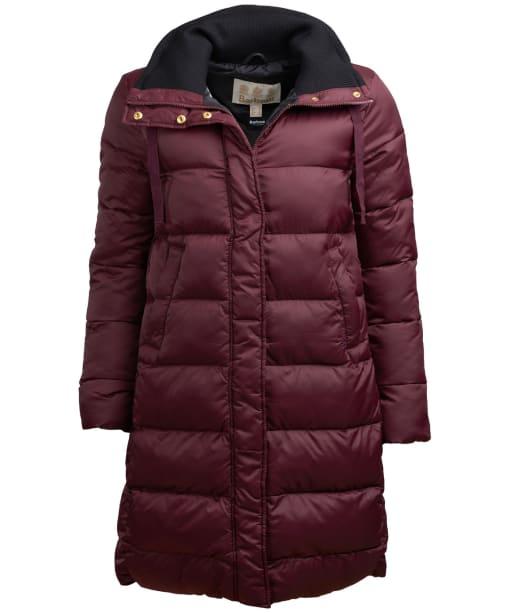 Women's Barbour Weatheram Quilted Jacket - Aubergine