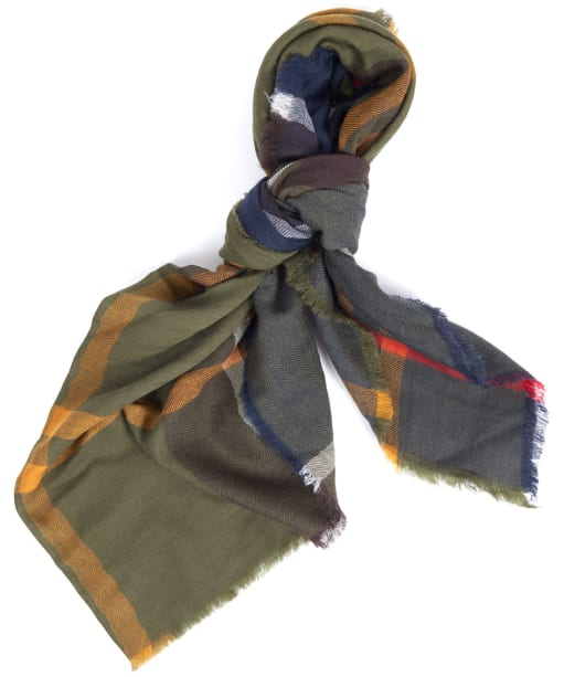 Women's Barbour Lawers Tartan Scarf - Barbour Classic