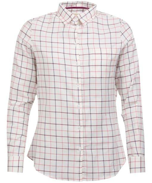 Women's Barbour Triplebar Check Shirt - Aster Pink Check