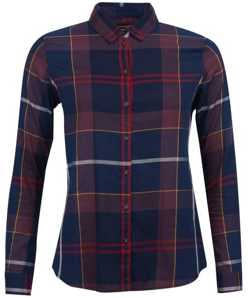 Women's Barbour Moorland Shirt - Navy Check