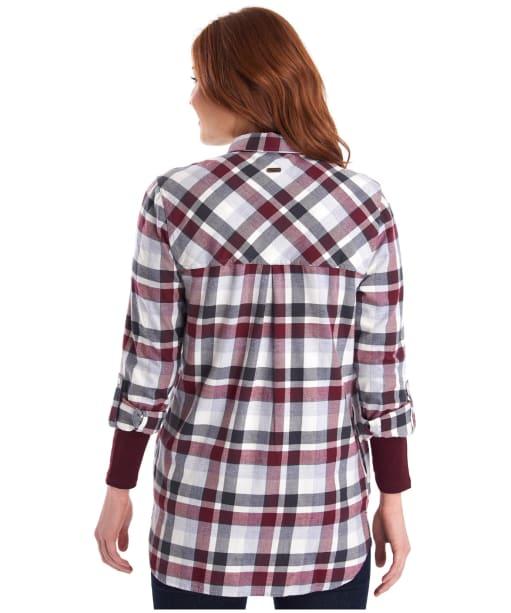 Women's Barbour Lewes Shirt - Bordeaux / Grey Check