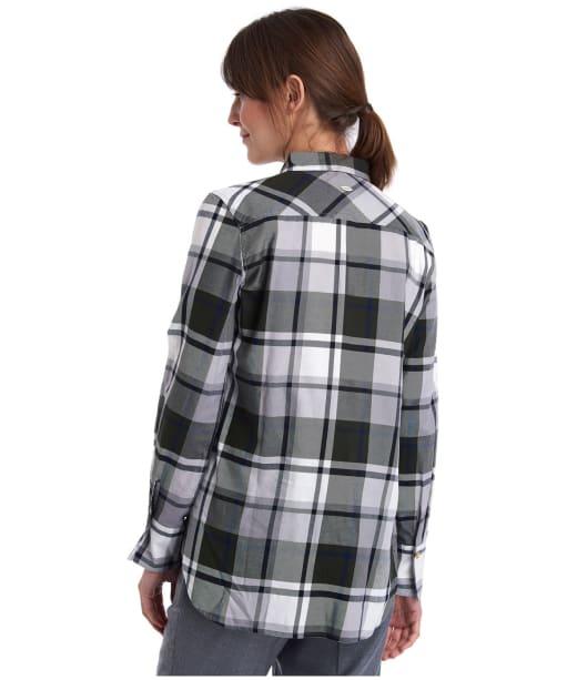 Women's Barbour Heath Shirt - Grey / Thyme Check
