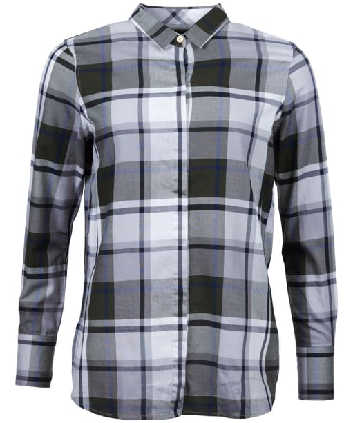 Women's Barbour Heath Shirt - Grey / Thyme Check
