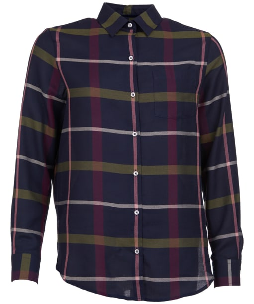 Women's Barbour Oxer Check Shirt - Navy Check