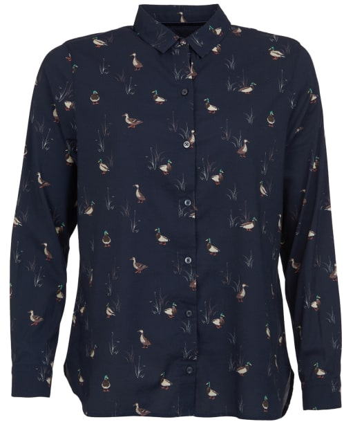 Women's Barbour Brecon Shirt - Navy Print
