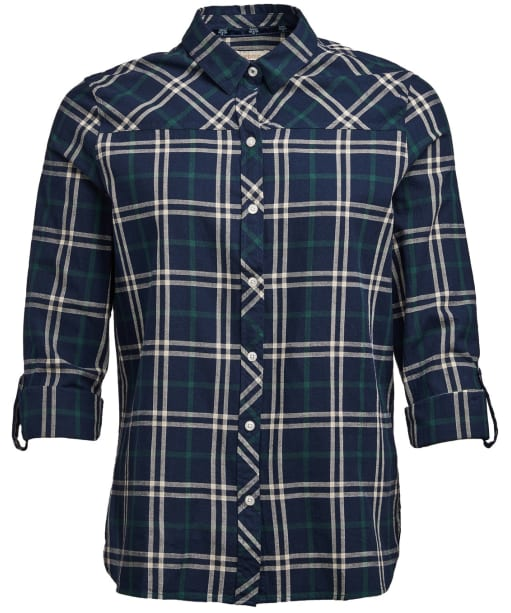Women's Barbour Clam Shirt - Navy / Green Check