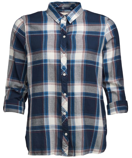 Women's Barbour Tellin Shirt - Deep Sea Check