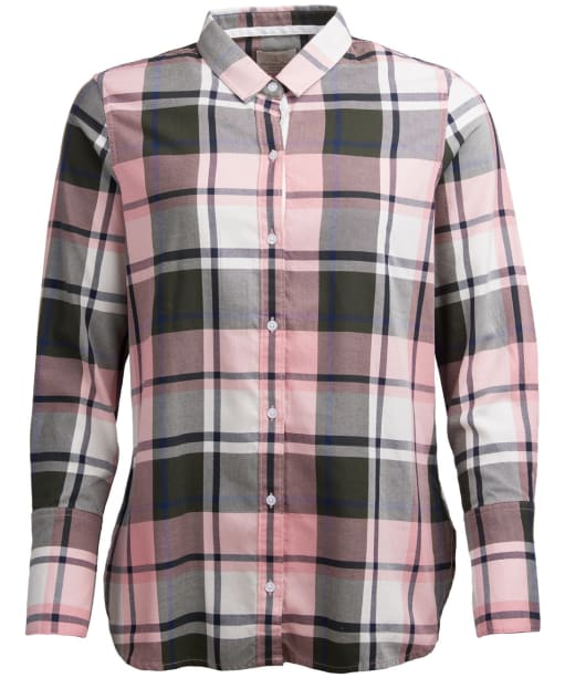 Women's Barbour Wetherlam Shirt - Sage / Blush Check
