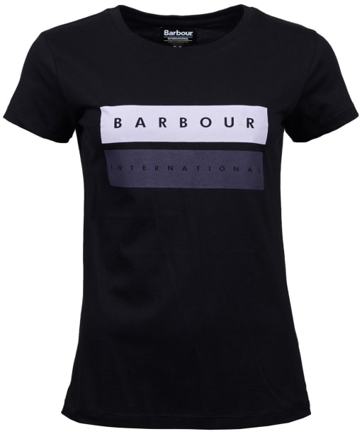 Women's Barbour International Garrow Tee - Black