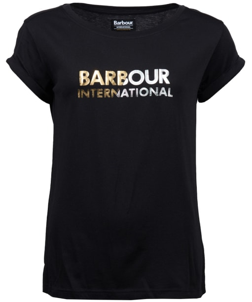 Women's Barbour International Doran Tee - Black