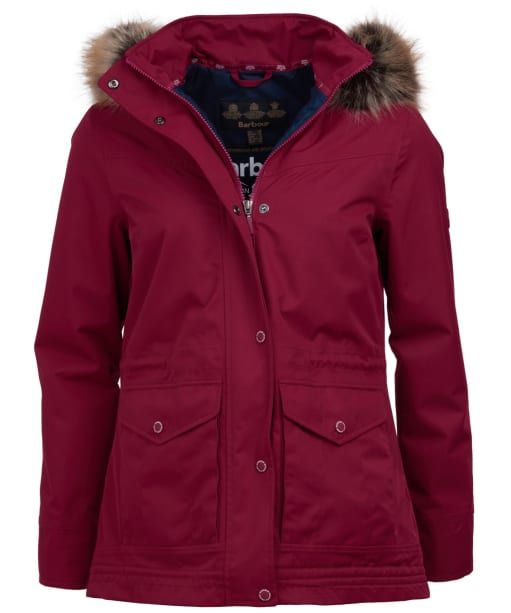 Women's Barbour Abalone Waterproof Jacket - Deep Pink