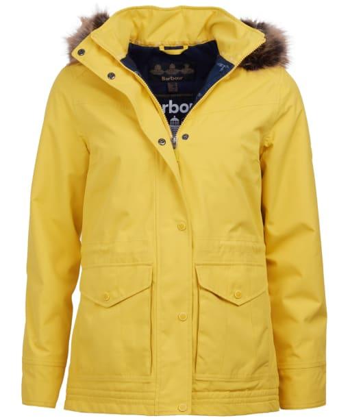 Women's Barbour Abalone Waterproof Jacket - Sulphur Yellow