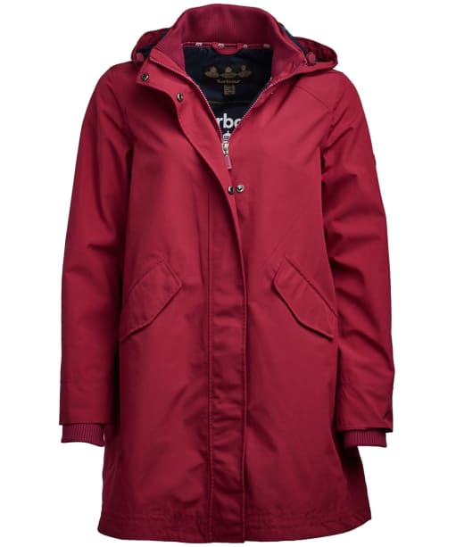Women's Barbour Weatherly Waterproof Jacket - Deep Pink