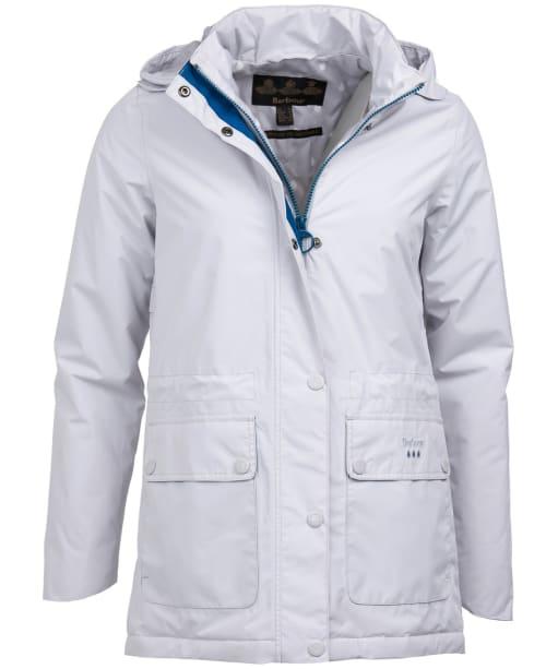 Women's Barbour Crest Waterproof Jacket - Ice White