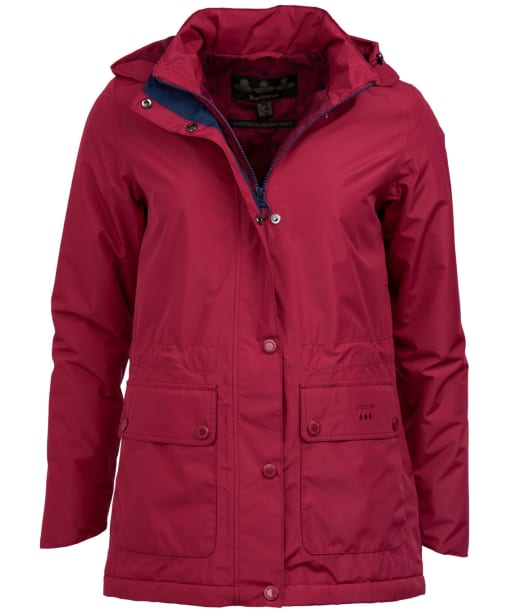 Women's Barbour Crest Waterproof Jacket - Deep Pink