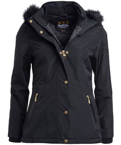 Women's Barbour International Beemer Waterproof Jacket - Black