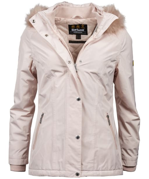 Women's Barbour International Beemer Waterproof Jacket - Oyster
