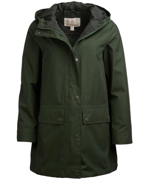 Women's Barbour Manor Waterproof Jacket - Duffle Green