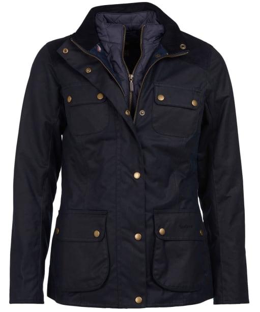 Women's Barbour Dene Wax Jacket - Navy