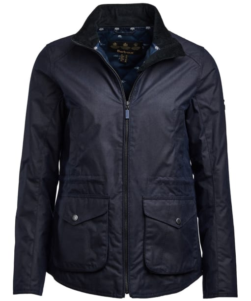 Women's Barbour Stockhold Waxed Jacket - Royal Navy
