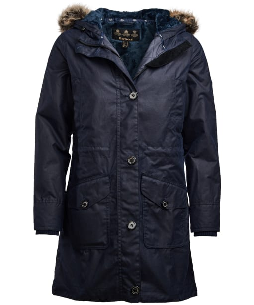 Women's Barbour Fairlead Waxed Jacket - Royal Navy