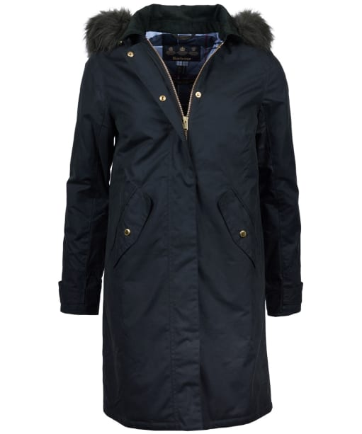 Women's Barbour Beresford Waxed Jacket - Sage
