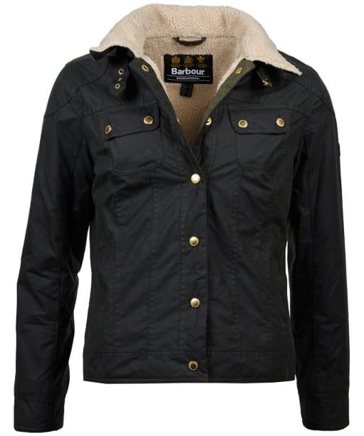 Women's Barbour International Garrow Waxed Jacket - Sage