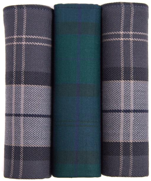Men's Barbour Handkerchief Pack - Black Watch / Monochrome
