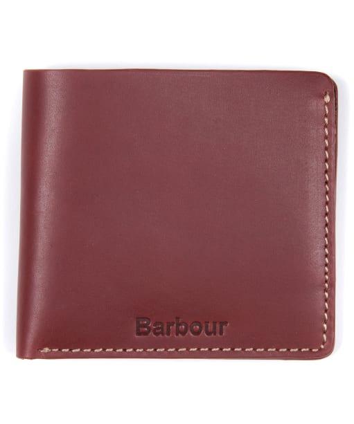 Men's Barbour Hadleigh Leather Billford Wallet - Chestnut Brown