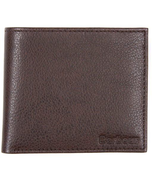 Men's Barbour Peterlee Leather Billfold Wallet - Dark Brown