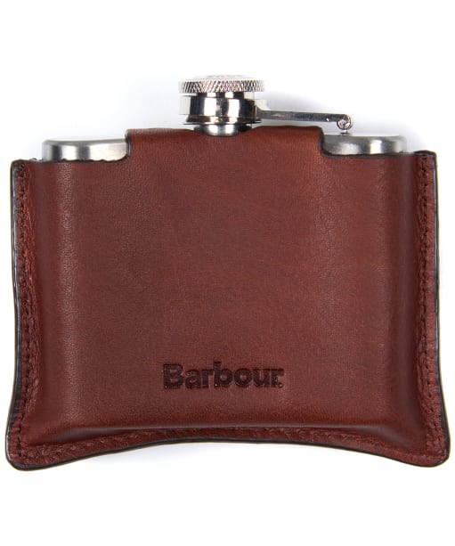 Men's Barbour 4oz Hinged Hipflask - Brown