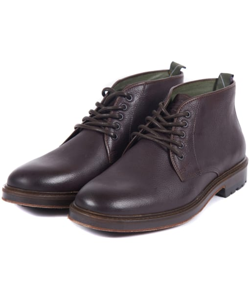 Men's Barbour Derwent Chukka Boots - Dark Brown