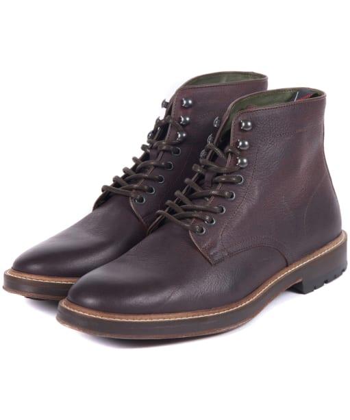 Men's Barbour Seaburn Derby Boots - Dark Brown