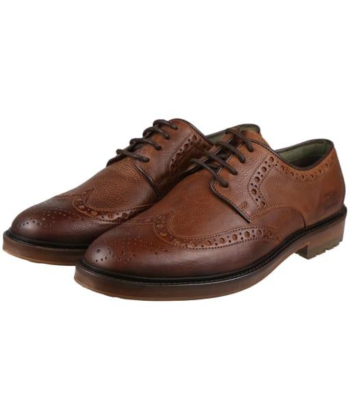 Men's Barbour Ouse Brogue Shoes - Tan