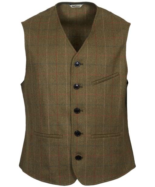 Men's Barbour Moorhen Waistcoat - Olive Check