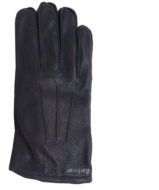 Men's Barbour Bexley Leather Gloves - Black