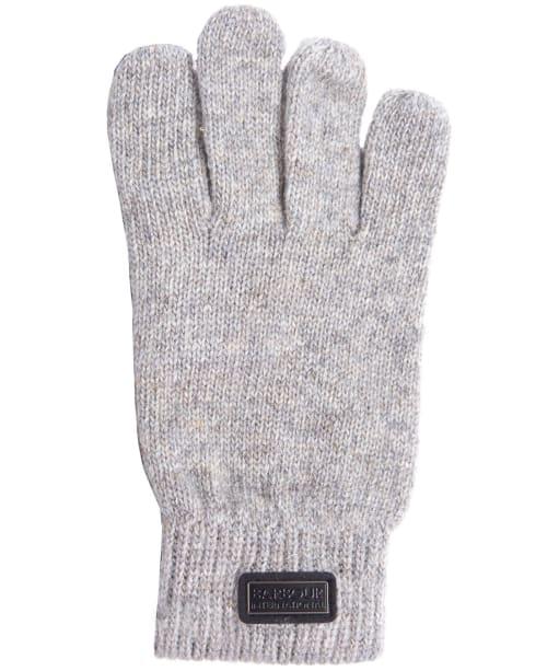 Men's Barbour International Sensor Knitted Gloves - Winter Grey