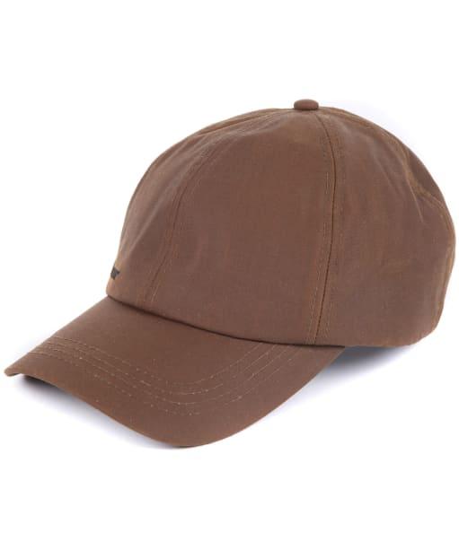 Men's Barbour Waxed Sports Cap - Bark